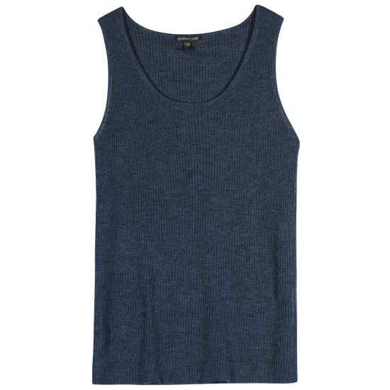 Washable Wool Crepe Rib Tank
