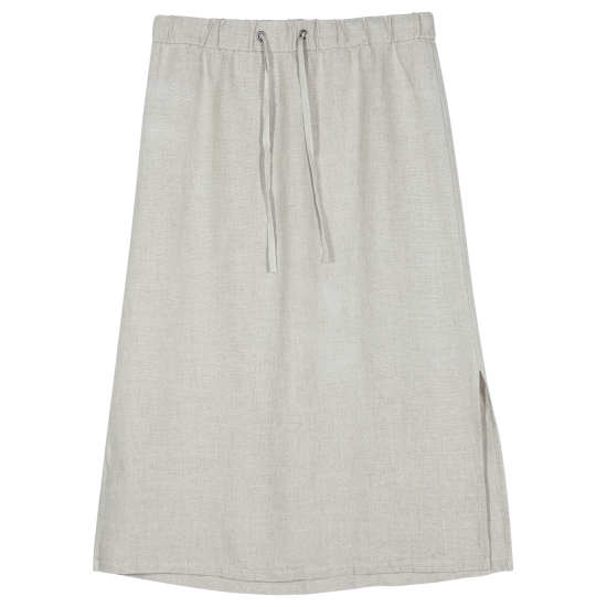 Fine Gauge Linen with Texture Skirt