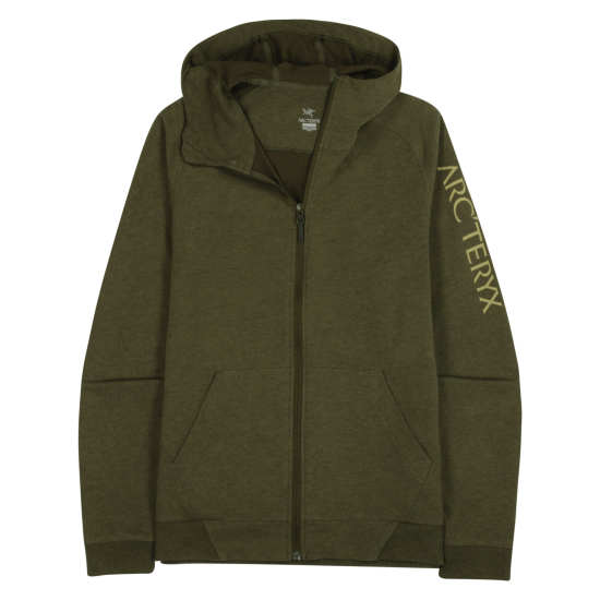 Word On End Full-Zip Hoody Men's