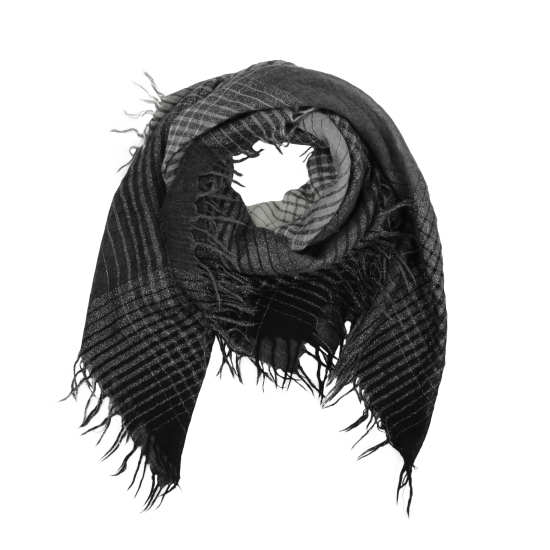 Wool Check Sparkle Scarf
