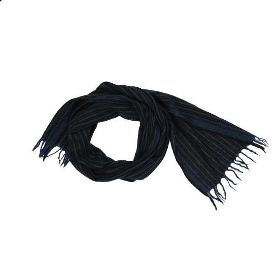 Washed Wool Stripe Scarf