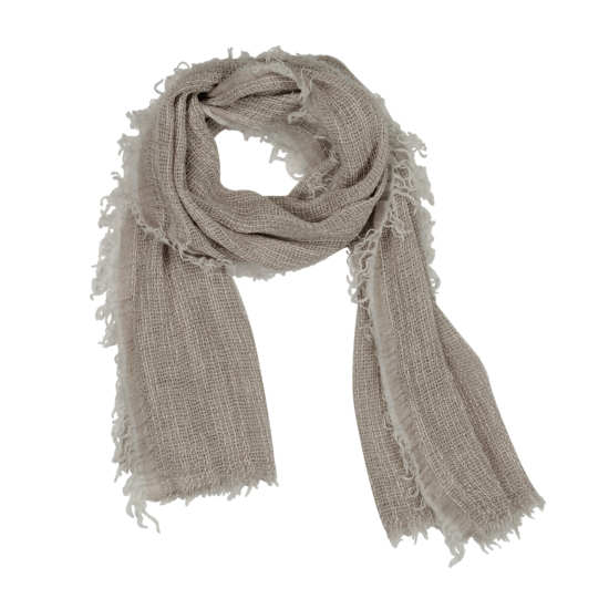 Twisted Organic Linen Cotton Scarf