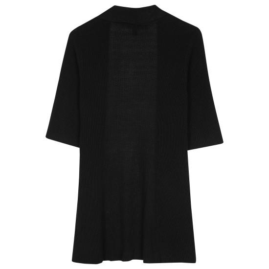 Polished Silk Organic Cotton Rib Pullover