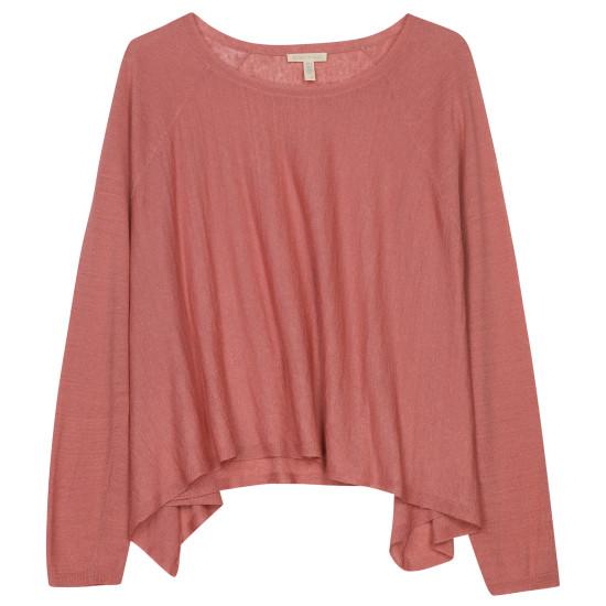 Fine Organic Linen Crepe Knit Pullover