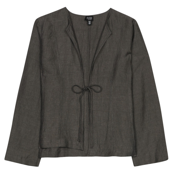 Cross-Dyed Linen Rayon Jacket
