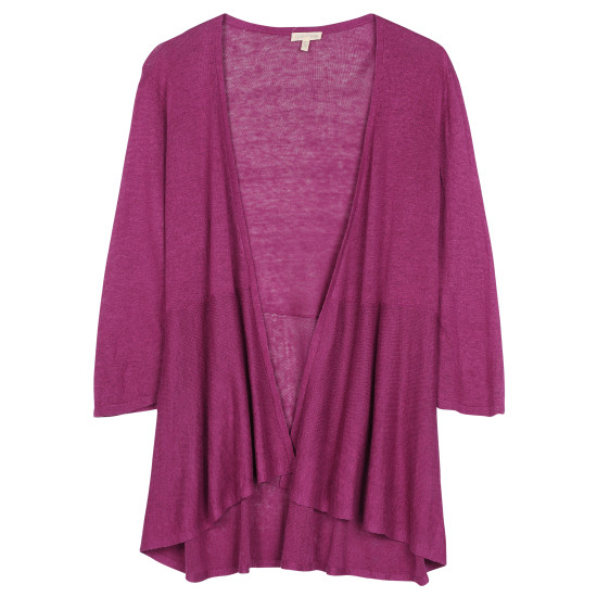 Linen Silk Jersey Cardigan
