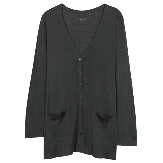 Silk Cotton Jersey Cardigan