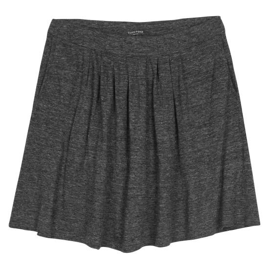 Linen Jersey Melange Skirt
