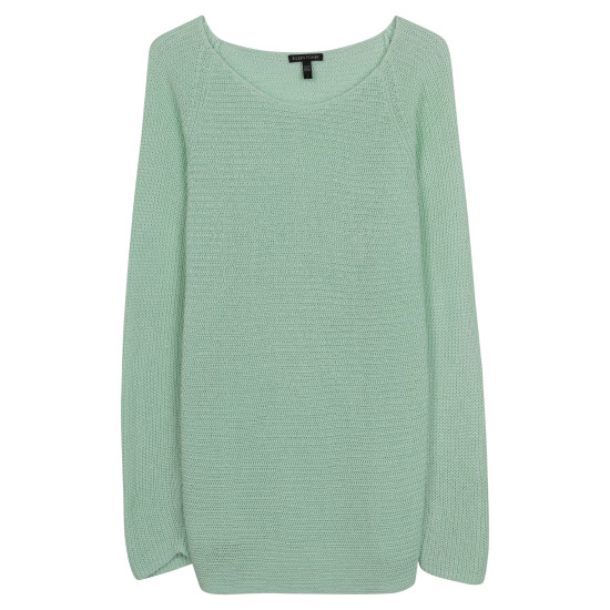 Organic Linen Half Cardigan Pullover