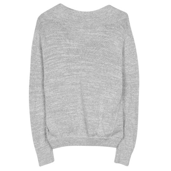 Plied Up-Fine Cotton Melange Pullover