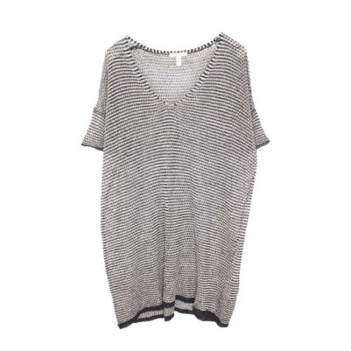Organic Linen Knit Stripe Pullover