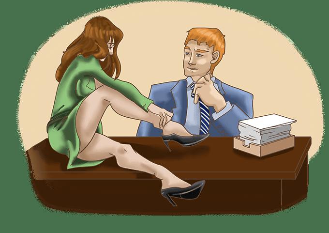 Role play fantasy: Secretary and boss