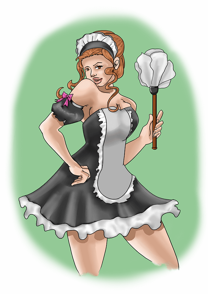 Role play fantasy: Hotel maid and guest