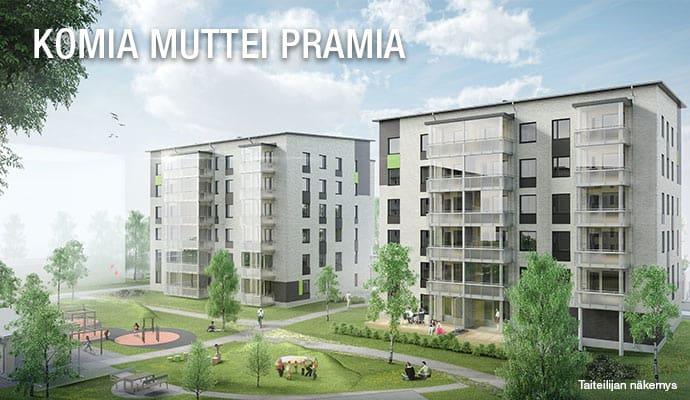 myytävät, asunnot, uudiskohteet, Seinäjoki, Komiakortteli