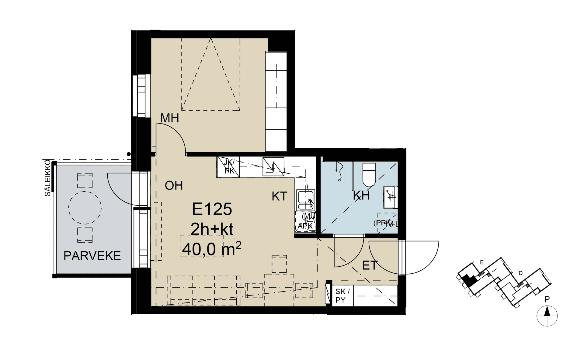 E 125