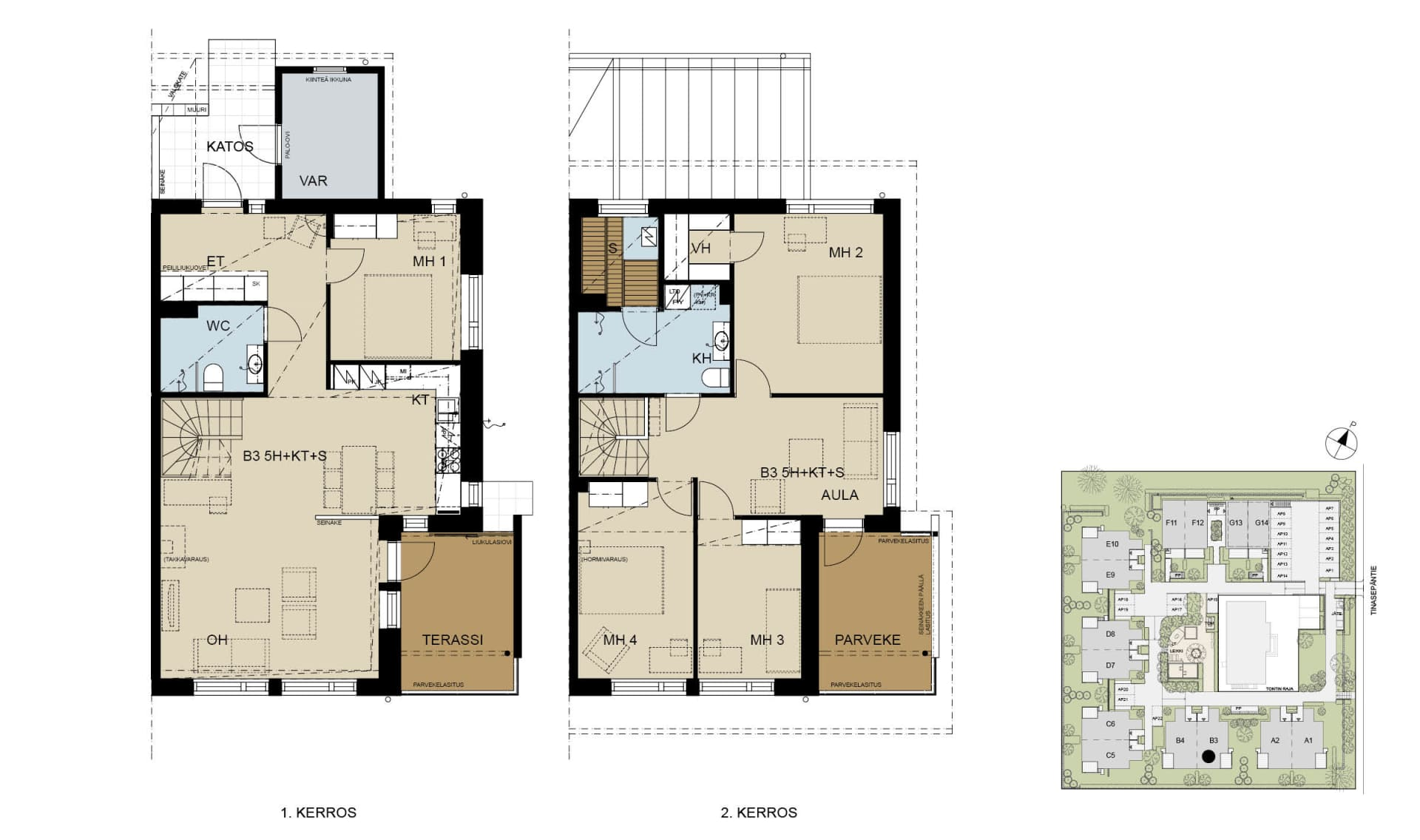 paritalokoti 141 m2