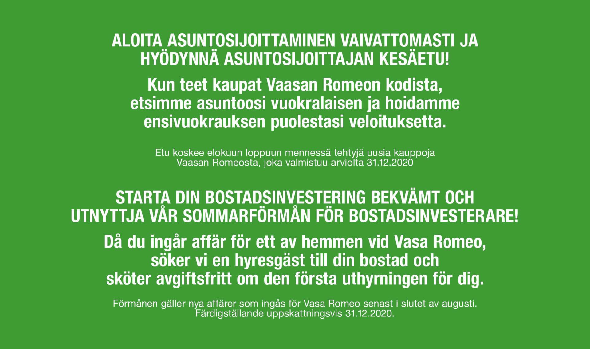 Trevian Suomi Kiinteistöt I osti kiinteistökokonaisuuden Vaasan keskustasta