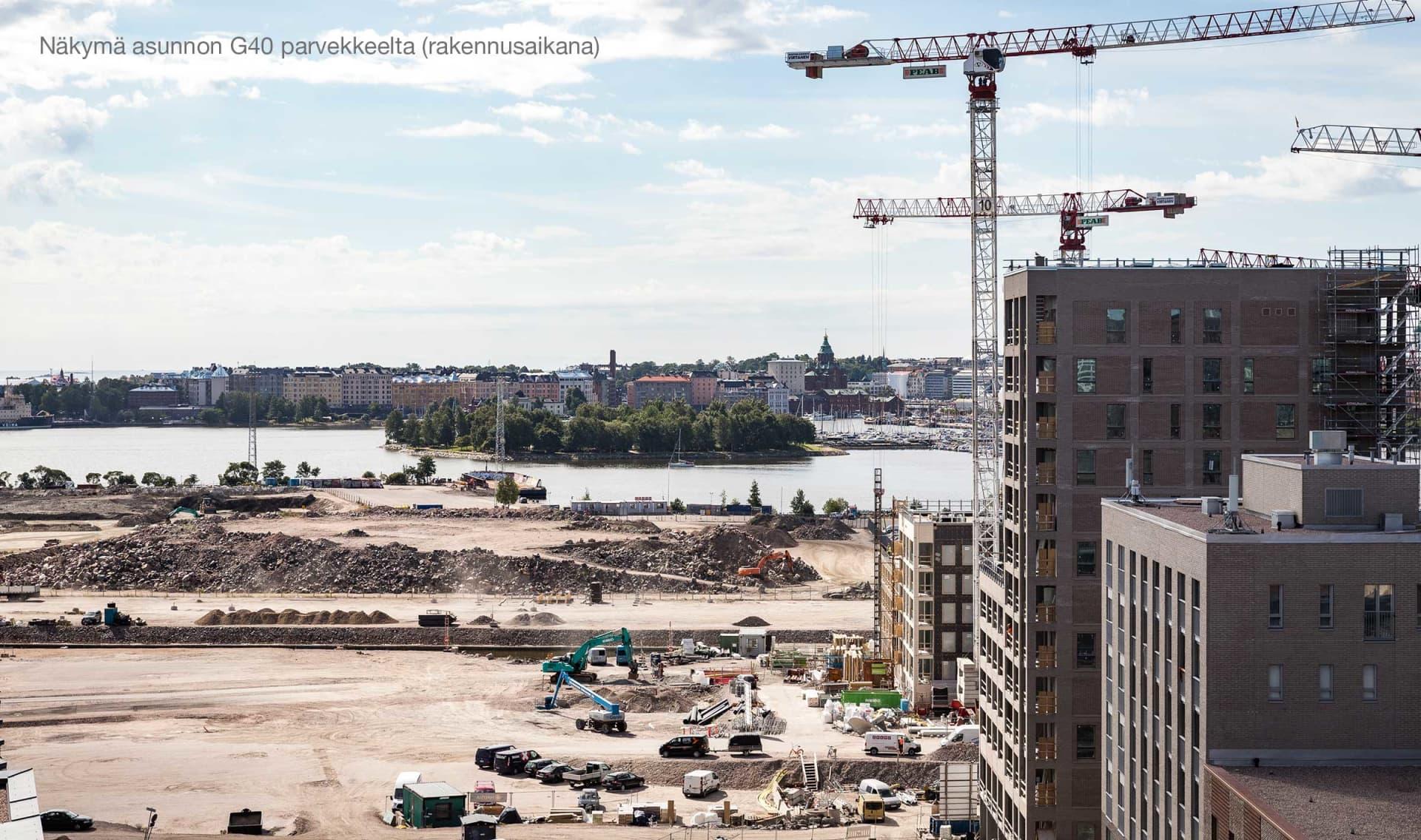 Näkymä Asunto Oy Helsingin Maston parvekkeelta
