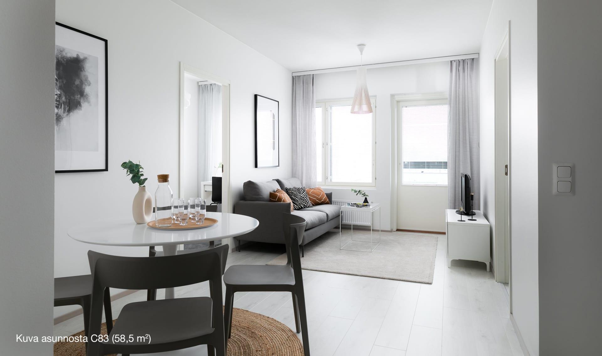 Asunto Oy Kauniaisten Herttua, Koivuhovi - 3h+kt, 58,5 m2