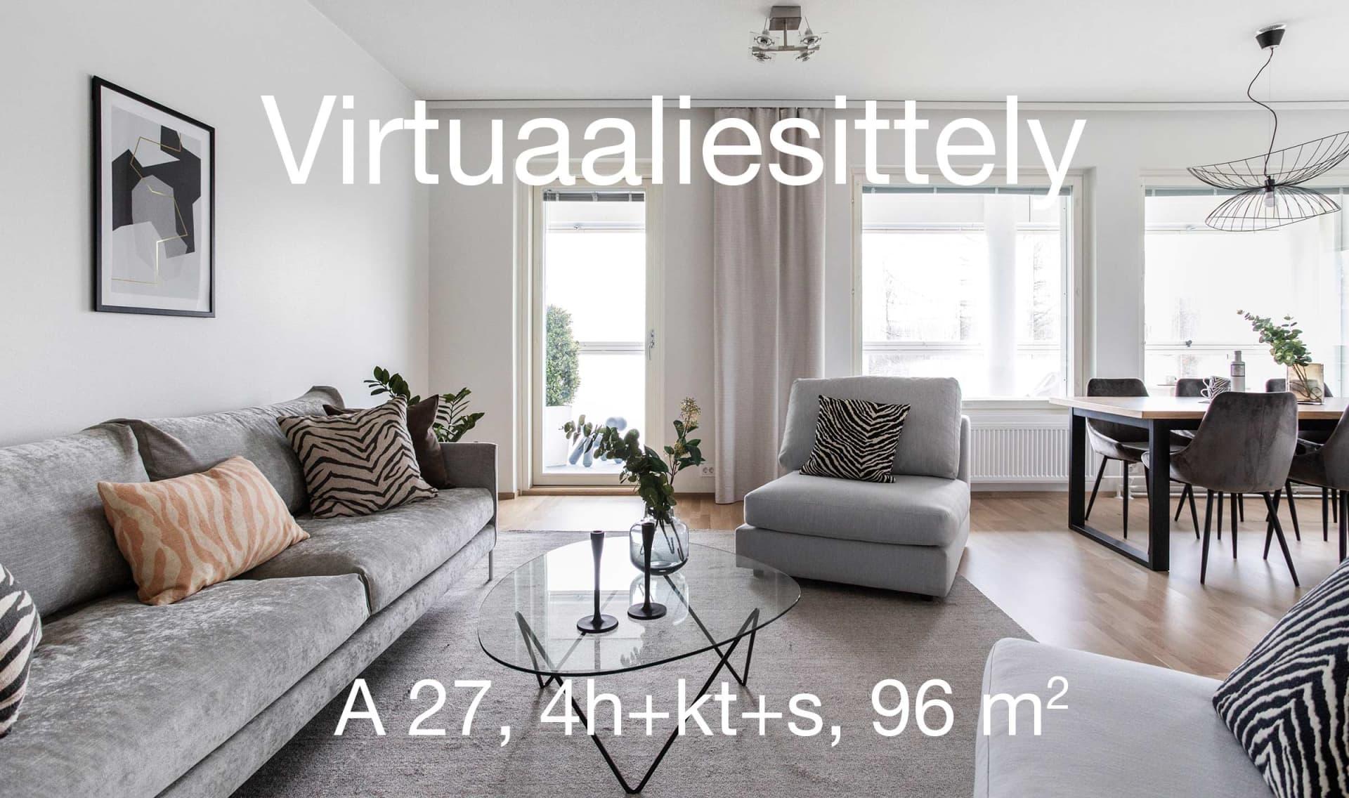 Asunto Oy Lahden Rantakukka, virtuaaliesittely 4h+kt+s