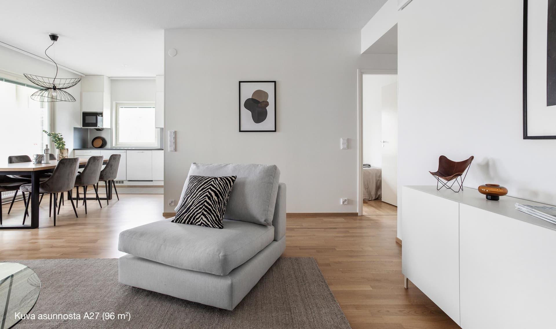 Asunto Oy Lahden Rantakukka - A27, 4h+kt+s, 96 m2