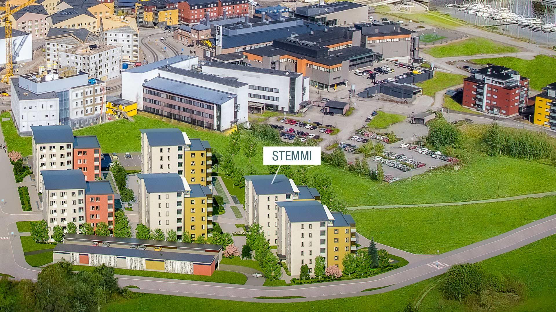 Visualisointi Hellbergin korttelista - Porvoon Stemmi - YIT
