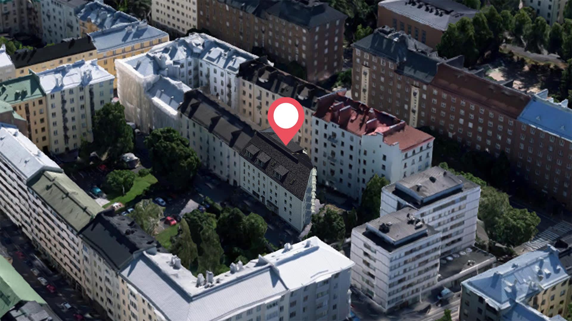 Asunto Oy Helsingin Berkka, suuntaa antava visualisointi