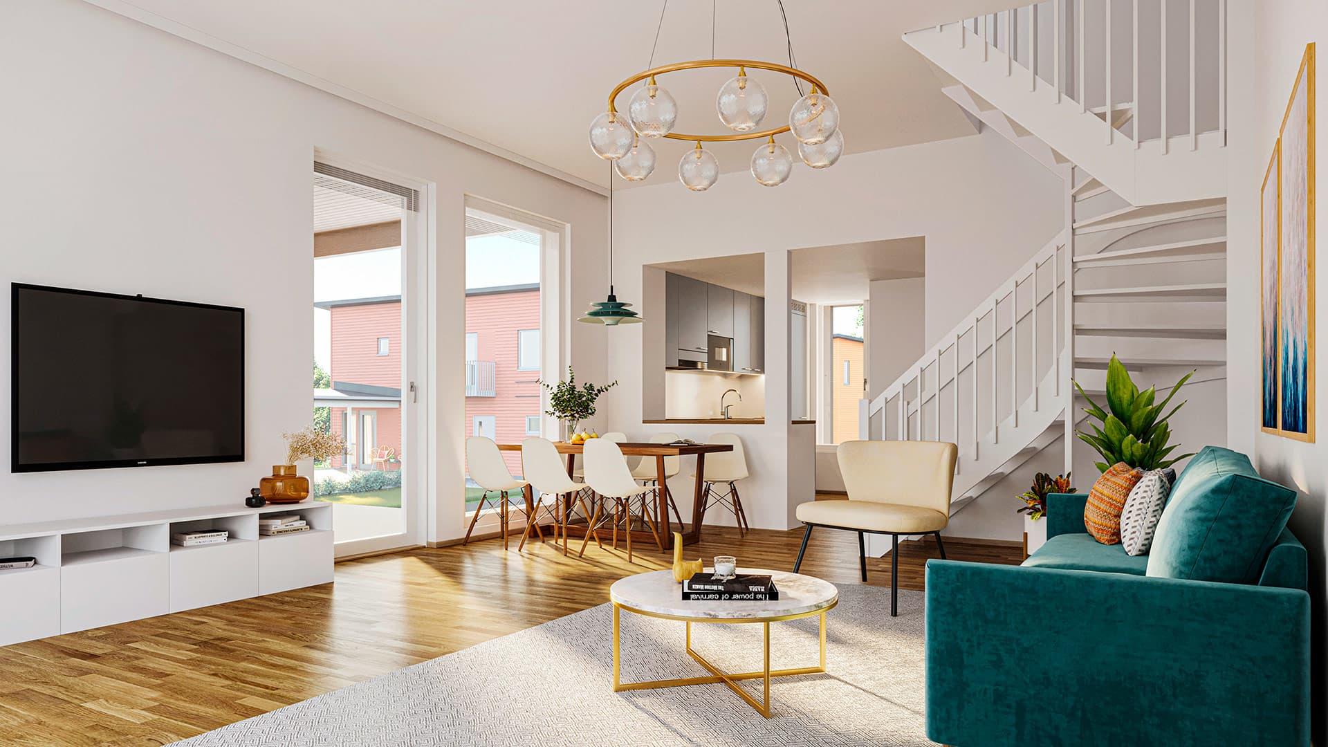 Myytävät asunnot Espoo, Nupuri - Espoon Vadelma - pari- ja erillistaloja