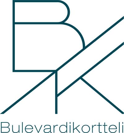 Bulevardikortteli. Tummanharmaa logo.