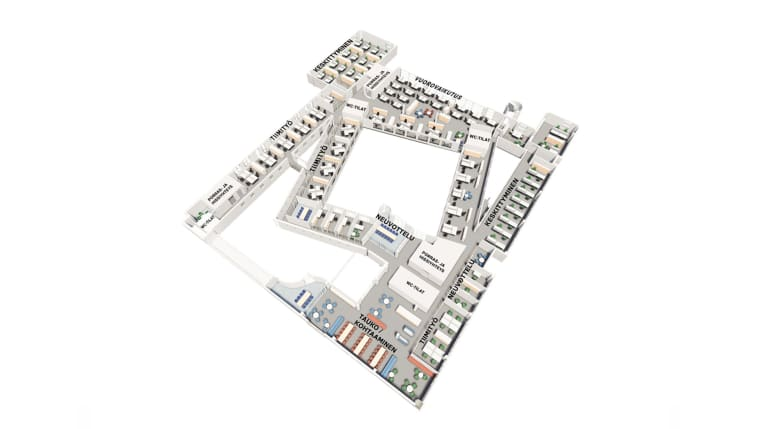 Axonometric floor layout