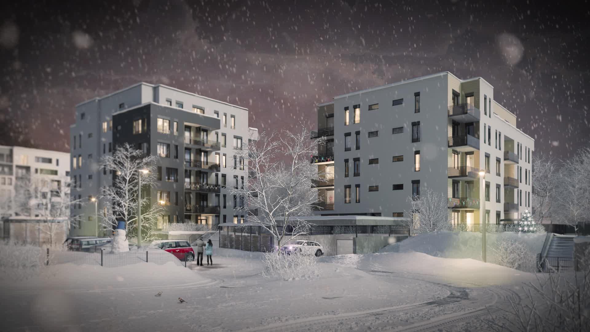 YIT SUOMI Hloubětín – Pori, winter.