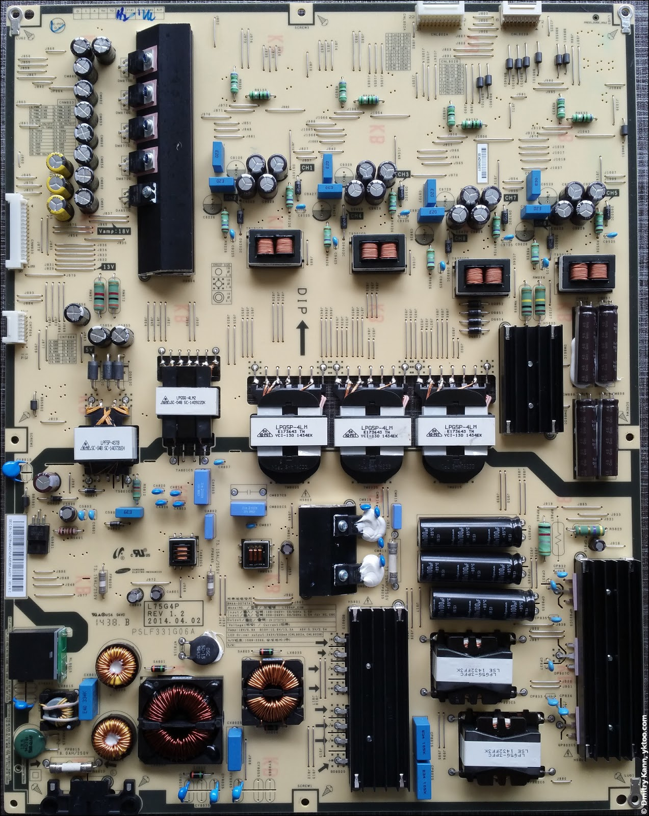 Power supply board.