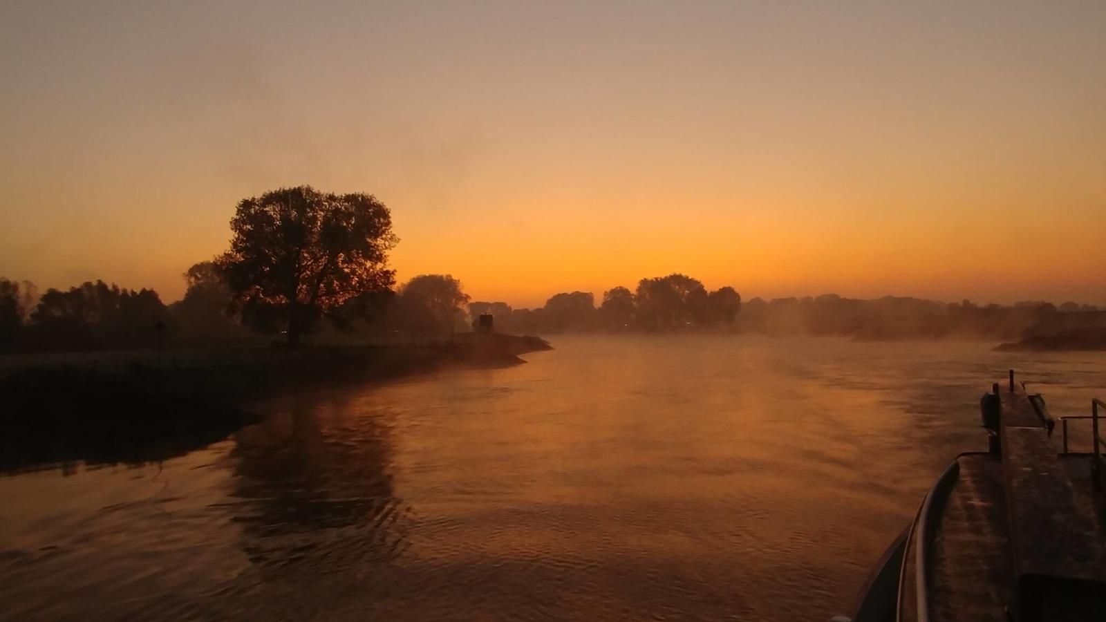 Туман над рекой Эйссел. Фото: Johan Klos/NOS Ooggetuige.
