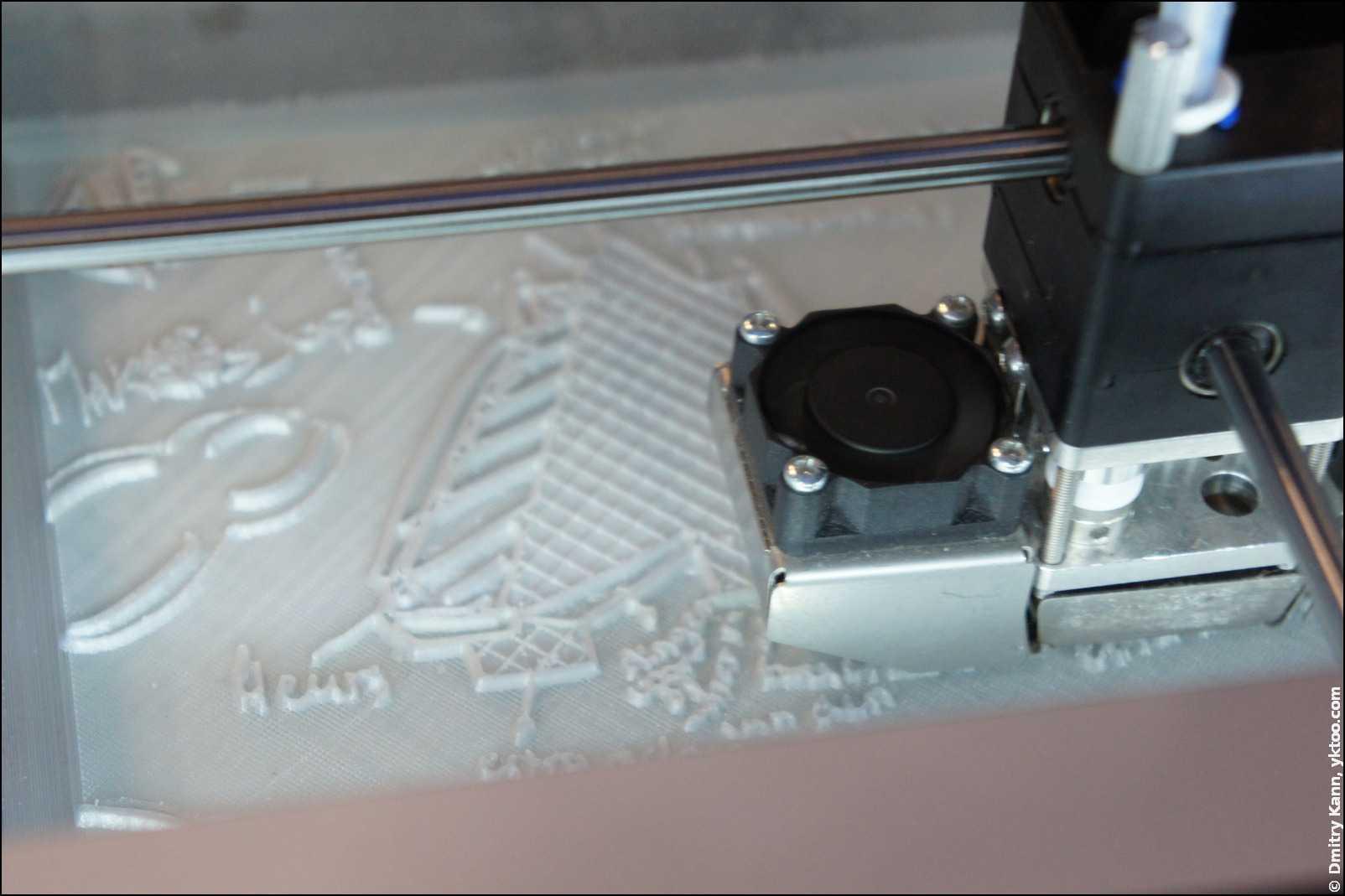 Ultimaker²: 3D-печать в процессе.