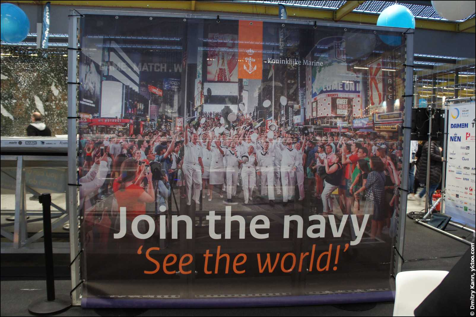 «Join the navy, see the world!»