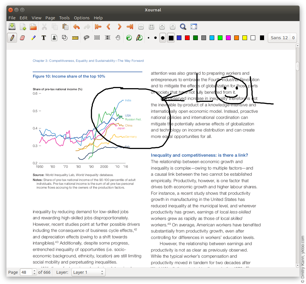 Xournal: annotating PDF has never been simpler.