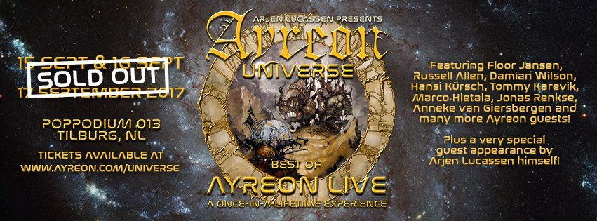 Ayreon Universe: all the tickets gone. Photo from Arjen Lucassen's Facebook page.