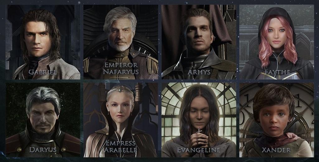 Действующие лица в The Astonishing.