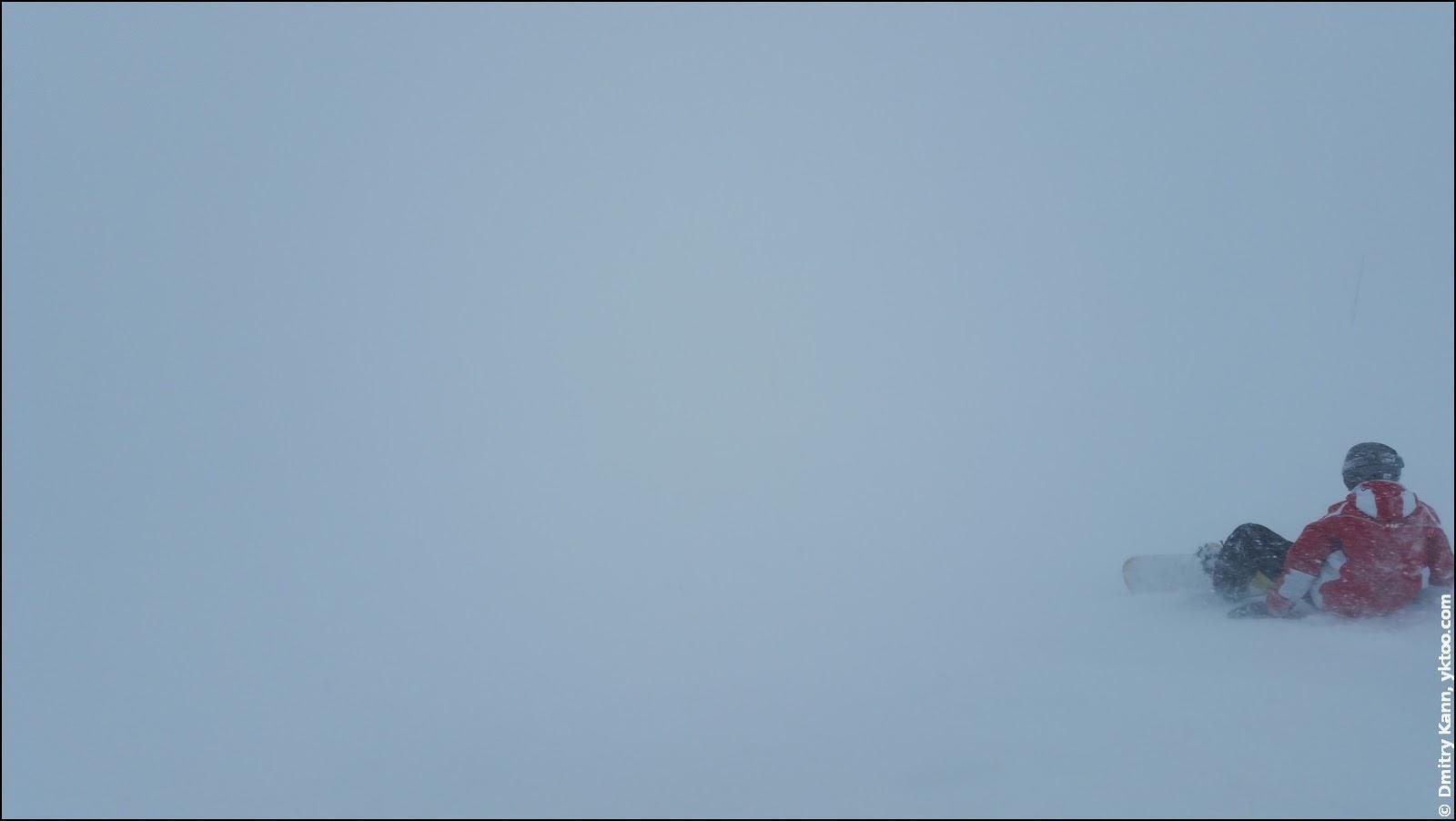 Fog in La Toussuire.