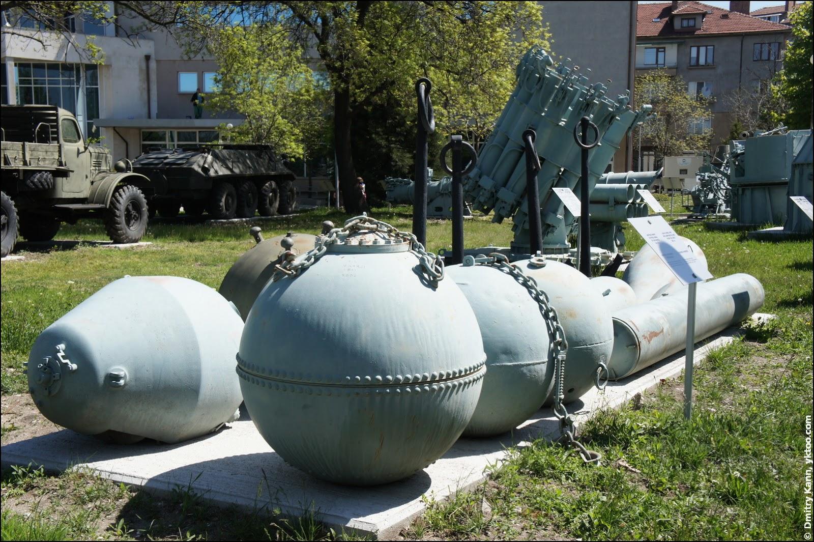 Naval mines.
