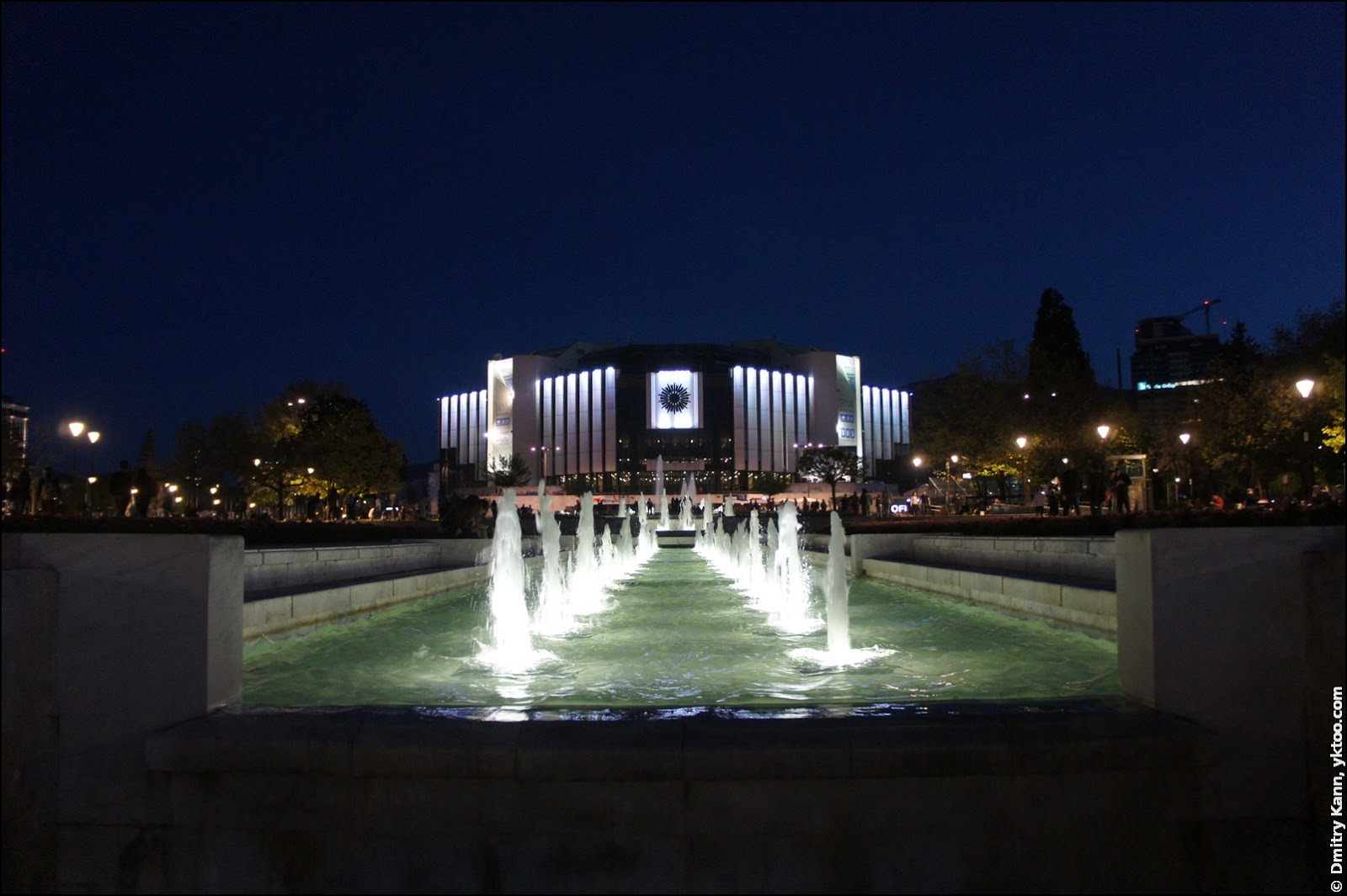 Fountains by night.