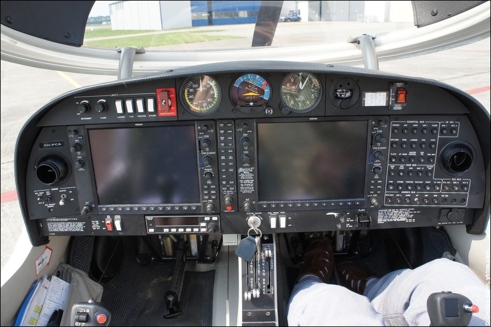 Современная панель управления DA40.