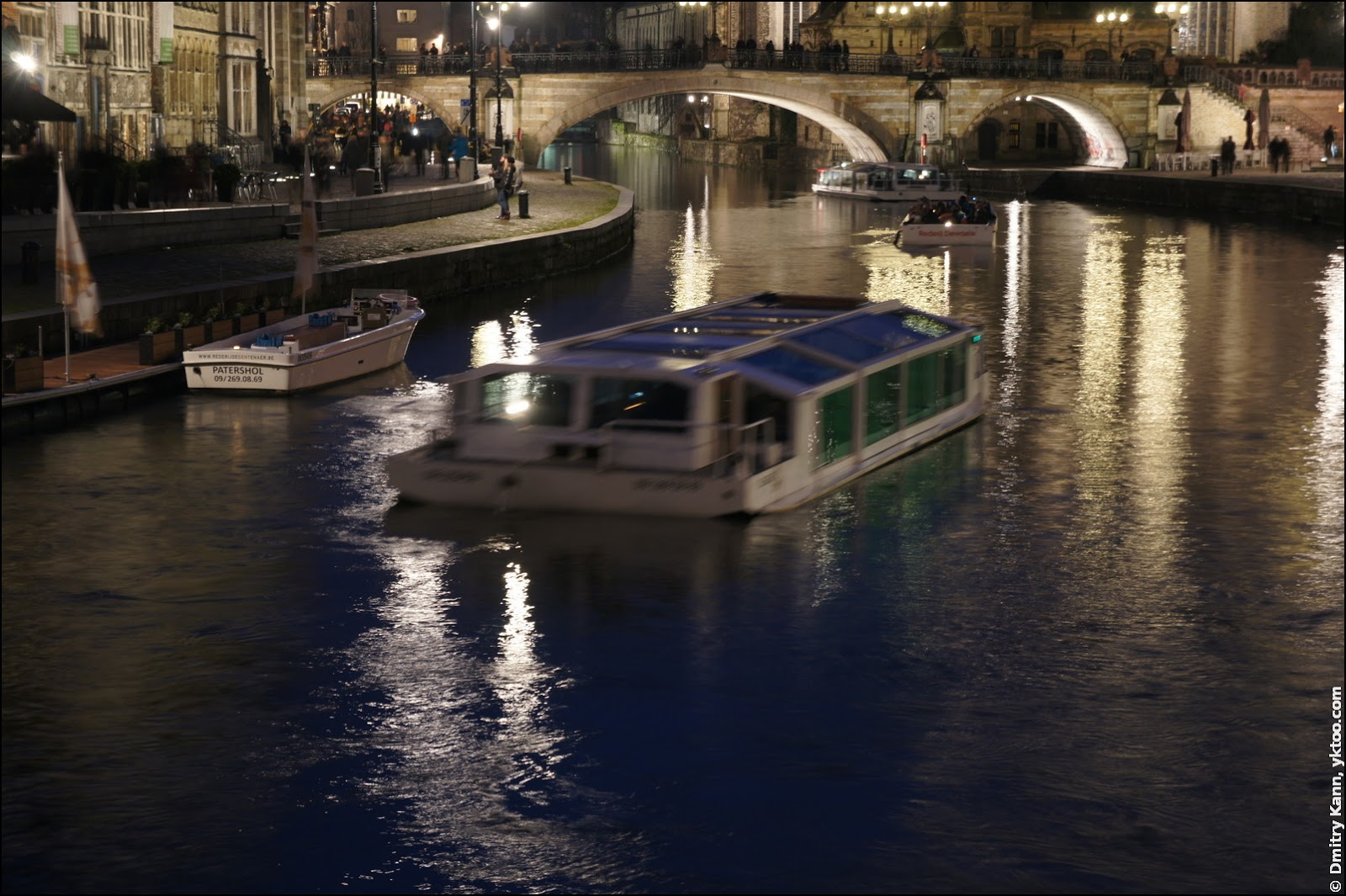 Tourist boats.