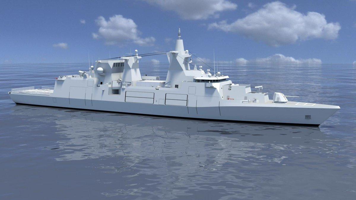 Рендер фрегата типа MKS 180.