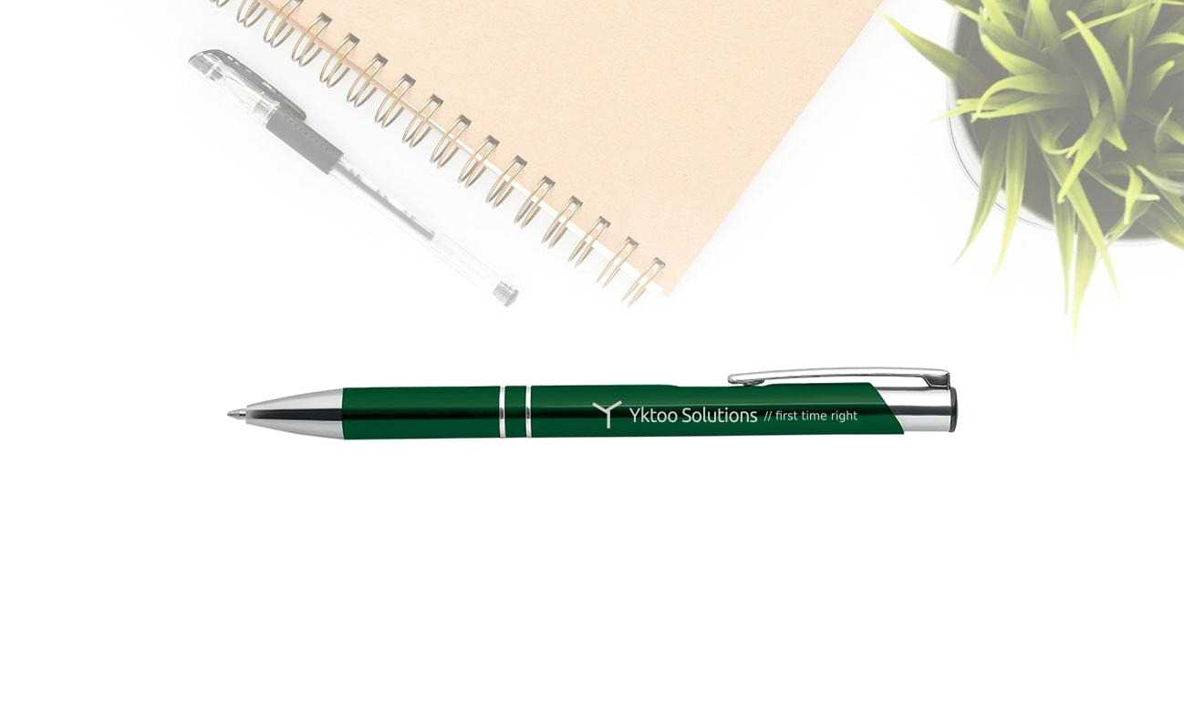 Personalised Yktoo Solutions pen.