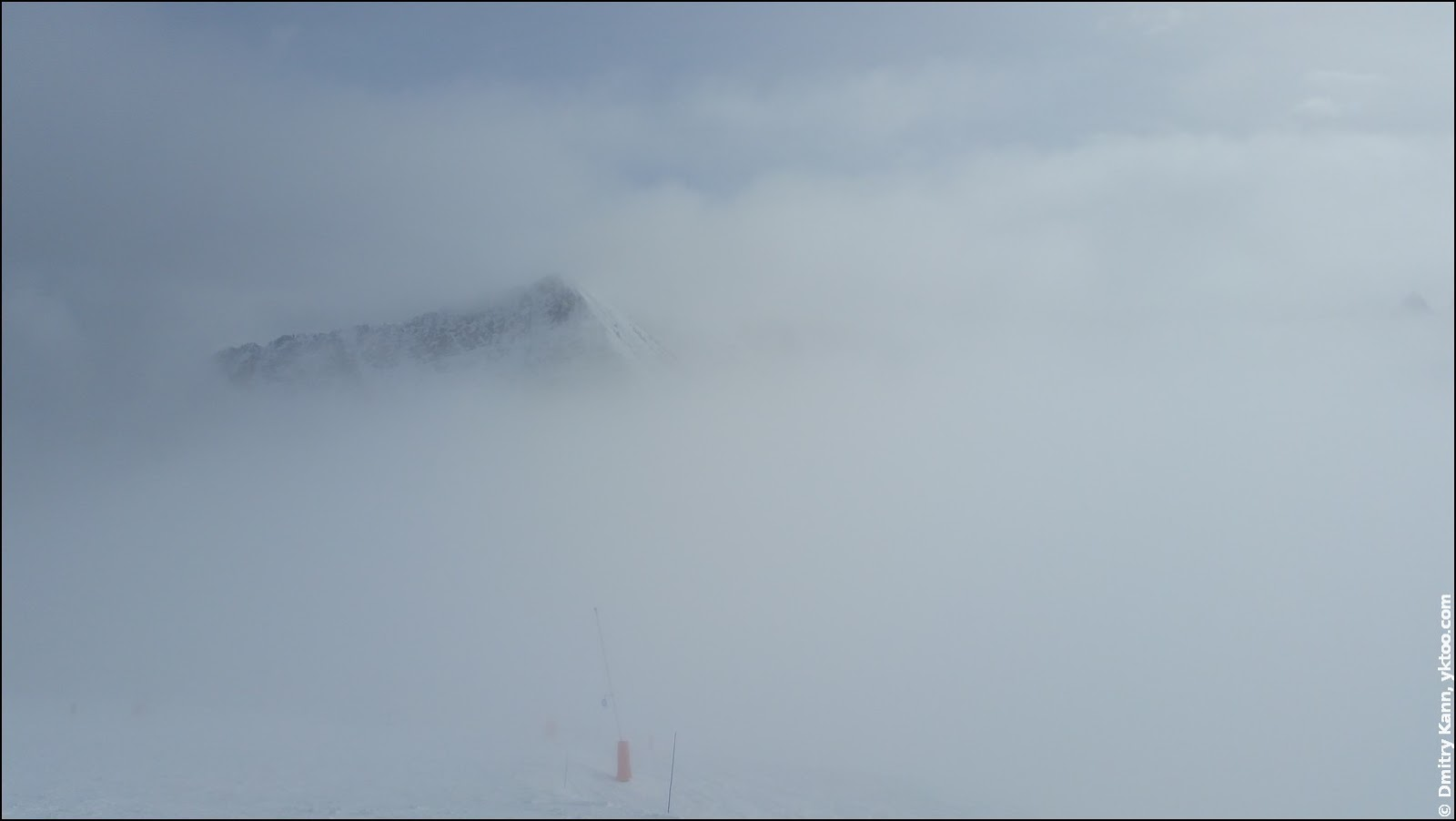 Fog in Les Sybelles.