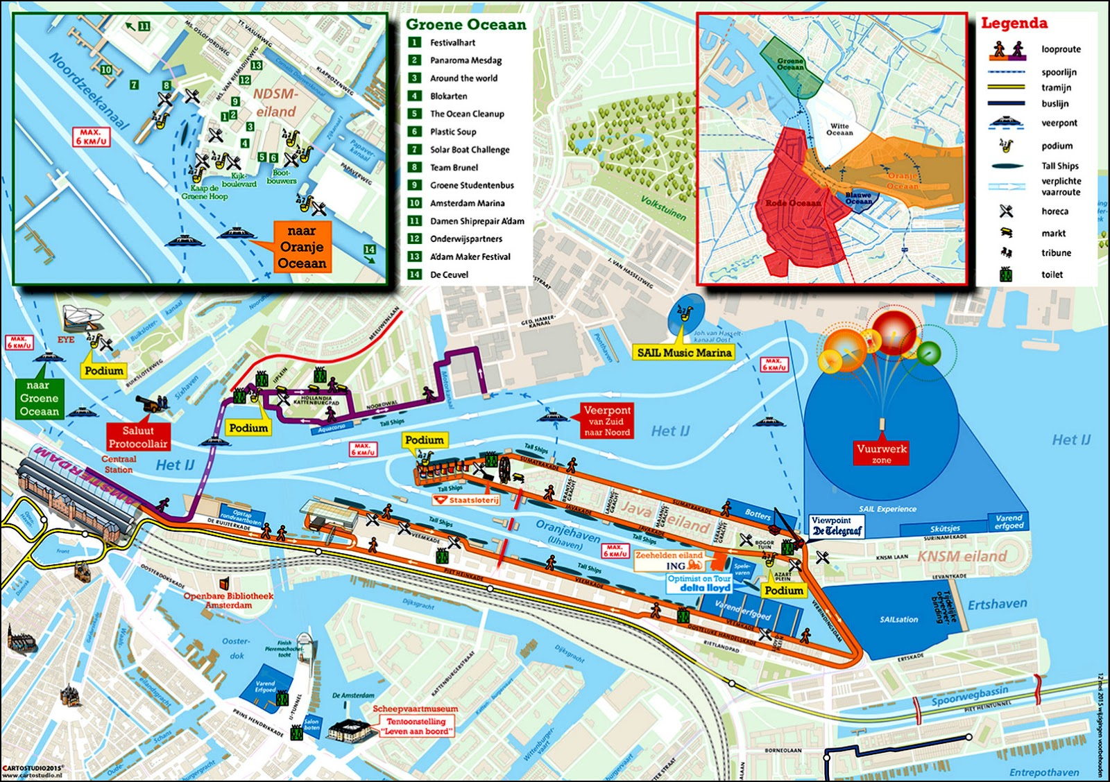 Map of the event. Copyright SAIL Amsterdam.