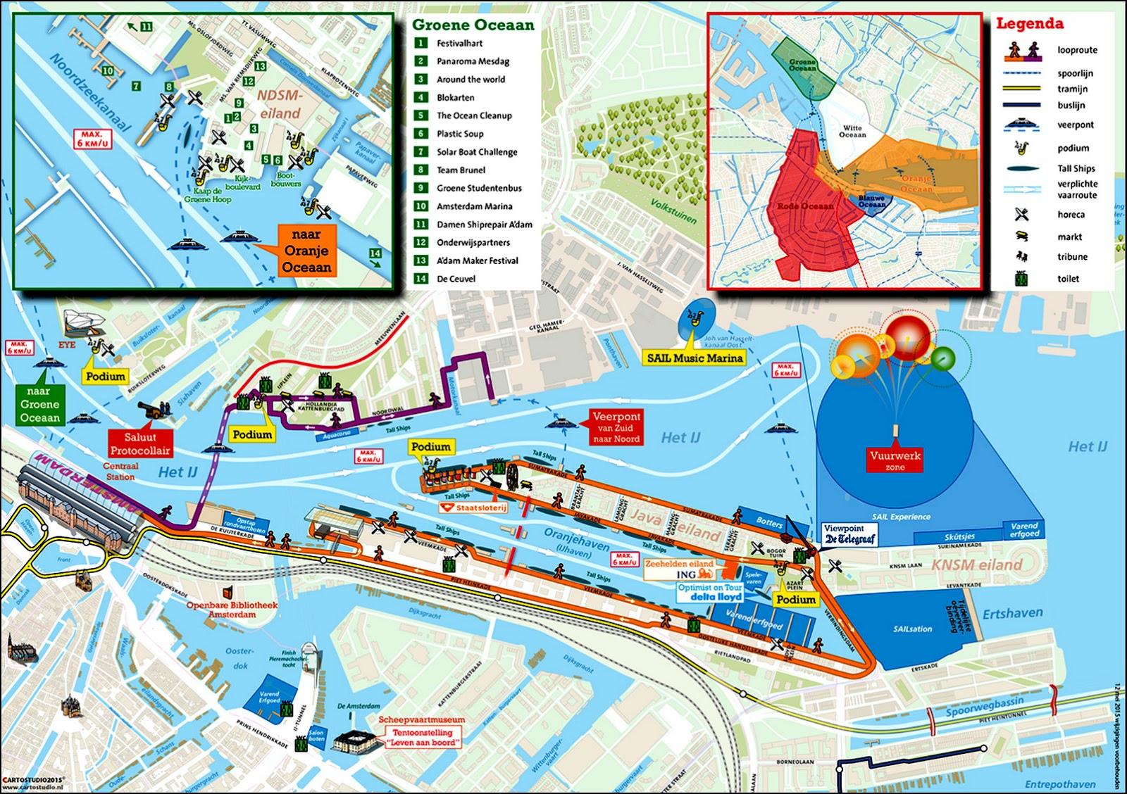 План мероприятия. Права принадлежат SAIL Amsterdam.