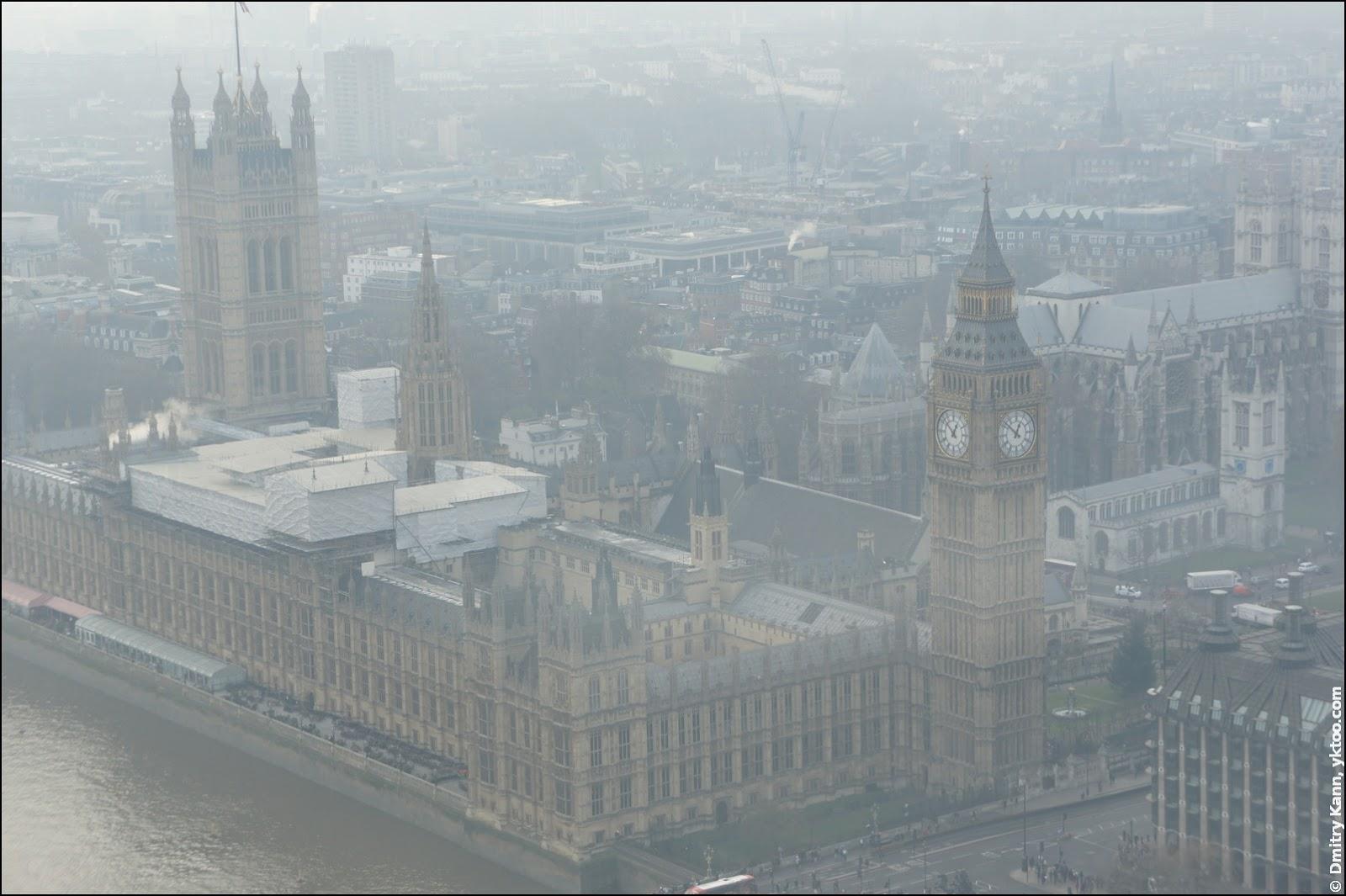 Вестминстерский дворец и Биг-Бен.