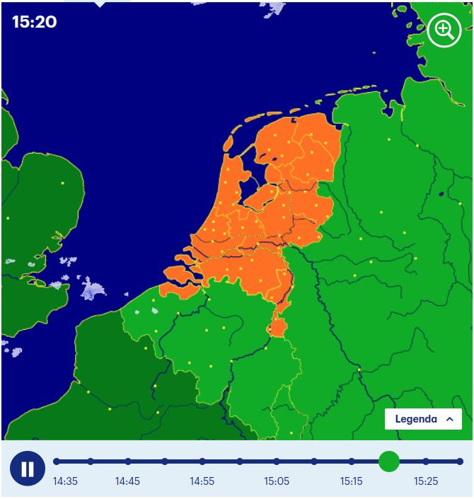 Изображение: buienradar.nl.